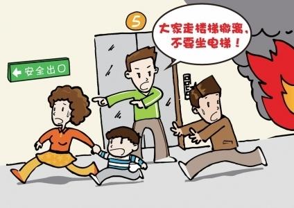 海尔东城国际小区电梯口起火