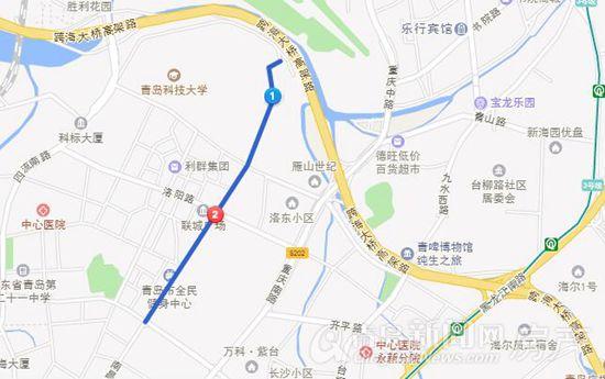 青岛市北区道路分布图
