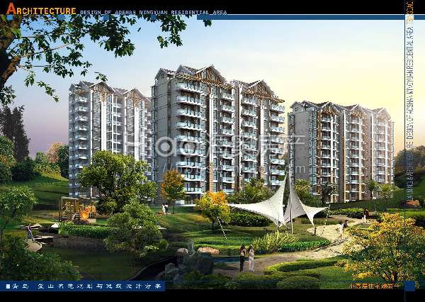 鳌山名苑效果图-02青岛小高层住宅效果1高清图片